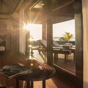 Lily Beach Resort and Spa at Huvahendhoo - Luxury Maldives Honeymoon Packages - Lagoon Villa exterior view