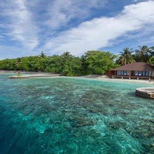 Lily Beach Resort and Spa at Huvahendhoo - Luxury Maldives Honeymoon Packages - Lagoon Villa reef