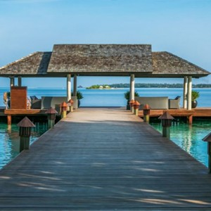 Lily Beach Resort and Spa at Huvahendhoo - Luxury Maldives Honeymoon Packages - Private dining