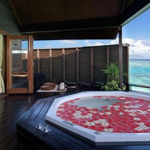 Lily Beach Resort and Spa at Huvahendhoo - Luxury Maldives Honeymoon Packages - Spa jacuzzi