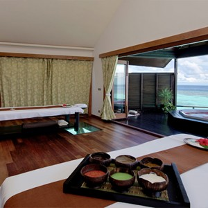 Lily Beach Resort and Spa at Huvahendhoo - Luxury Maldives Honeymoon Packages - Spa massage room