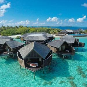 Lily Beach Resort and Spa at Huvahendhoo - Luxury Maldives Honeymoon Packages - Tamara Spa aerial view