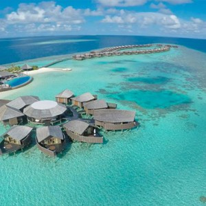Lily Beach Resort and Spa at Huvahendhoo - Luxury Maldives Honeymoon Packages - aerial view