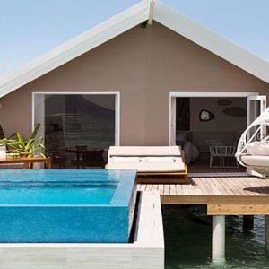 Lux South Ari Atoll - Luxury Maldives Honeymoon Packages - Romantic Pool Water Villa exterior pool1