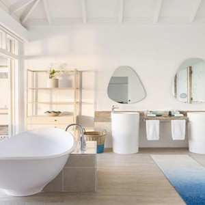 Lux South Ari Atoll - Luxury Maldives Honeymoon Packages - Water Villa bathroom1