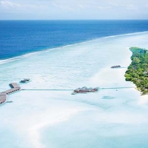 Lux South Ari Atoll - Luxury Maldives Honeymoon Packages - aerial view