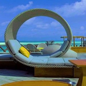 Lux South Ari Atoll - Luxury Maldives Honeymoon Packages - seating area