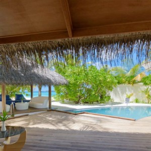 Maafushivaru - Luxury Maldives Honeymoon Packages - Pool villas view