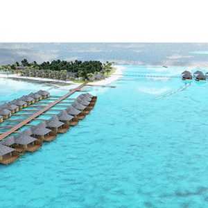 Maldives Honeymoon Packages Maafushivaru Aerial View