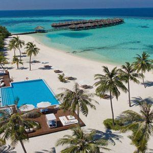 Maldives Honeymoon Packages Maafushivaru Hotel Aerial View