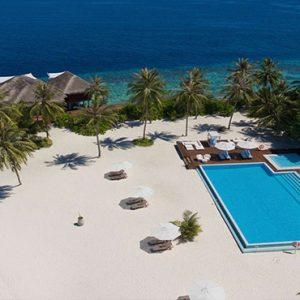 Maldives Honeymoon Packages Maafushivaru Hotel Aerial View1