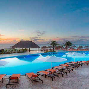 Mexico Honeymoon Packages Moon Palace Cancun Mexico Weddings Pool At Sunset