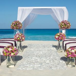 Mexico Honeymoon Packages Secrets The Vine Cancun Beach Wedding Theme Setup