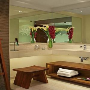 Mexico Honeymoon Packages Secrets The Vine Cancun Preferred Club Junior Suite Ocean View Bathroom