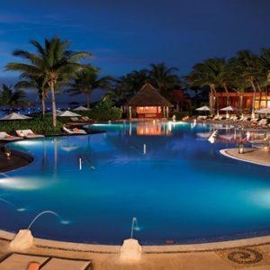 Mexico Honeymoon Packages Zoetry Paraiso De La Bonita Riviera Maya Pool At Night