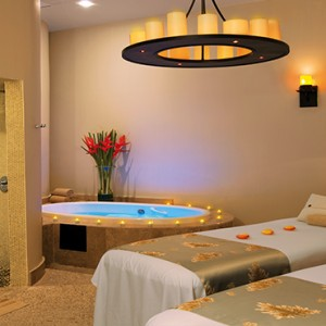 Mexico Honeymoons Packages Secrets Maroma Beach Couple Spa Treatment Room