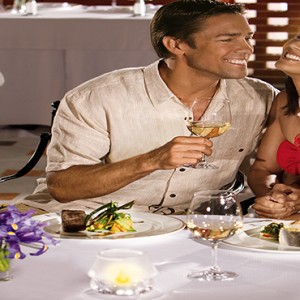 Mexico Honeymoons Packages Secrets Maroma Beach Portofino Couple Dining
