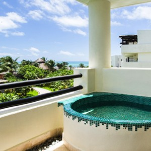 Mexico Honeymoons Packages Secrets Maroma Beach Preferred Club Junior Suite Ocean View Exterior Soaking Tub