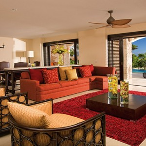 Mexico Honeymoons Packages Secrets Maroma Beach Presidential Suite Swim Out Living Area