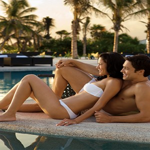 Mexico Honeymoons Packages Secrets Maroma Beach Couple By Pool