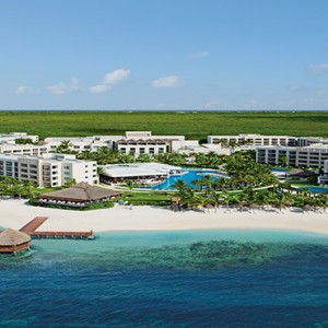 Mexico Honeymoons Packages Secrets Silversands Riviera Cancun – Aerial View