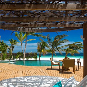 Milaidhoo Island Maldives - Luxury Maldives Honeymoon Packages - Beach Residence pool deck