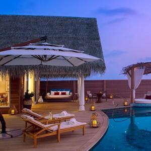 Milaidhoo Island Maldives - Luxury Maldives Honeymoon Packages - Ocean Residence pool deck at night