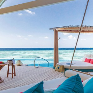Milaidhoo Island Maldives - Luxury Maldives Honeymoon Packages - Water Pool Villa deck view