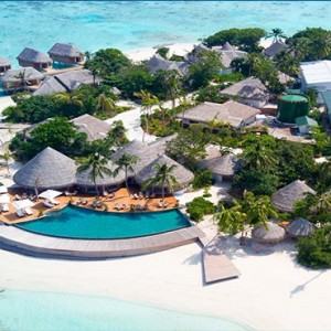 Milaidhoo Island Maldives - Luxury Maldives Honeymoon Packages - aerial view1