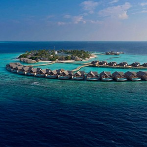 Milaidhoo Island Maldives - Luxury Maldives Honeymoon Packages - aerial view4