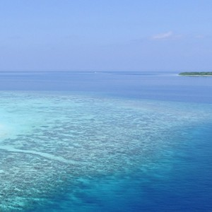 Milaidhoo Island Maldives - Luxury Maldives Honeymoon Packages - aerial view6