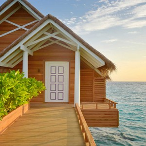 Milaidhoo Island Maldives - Luxury Maldives Honeymoon Packages - exterior of water pool villa