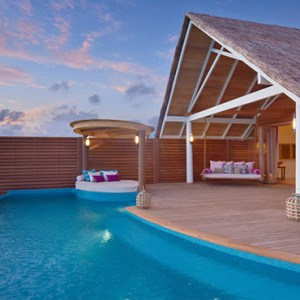 Milaidhoo Island Maldives - Luxury Maldives Honeymoon Packages - exterior of water pool villa1