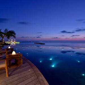 Milaidhoo Island Maldives - Luxury Maldives Honeymoon Packages - pool at night