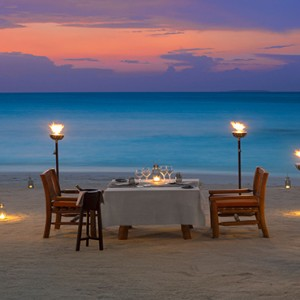 Milaidhoo Island Maldives - Luxury Maldives Honeymoon Packages - private beach dining