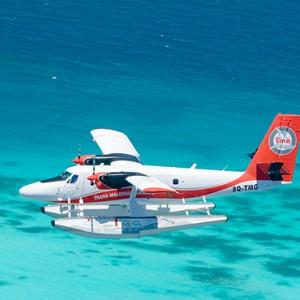 Milaidhoo Island Maldives - Luxury Maldives Honeymoon Packages - seaplane transfer