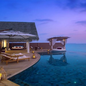 Milaidhoo Island Maldives - Luxury Maldives Honeymoon Packages - villa exterior at night
