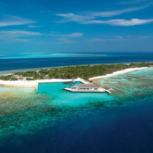 OBLU by Atmosphere at Helengali - Luxury Maldives Honeymoon Packages - Aerial view