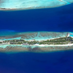 OBLU by Atmosphere at Helengali - Luxury Maldives Honeymoon Packages - Aerial view1