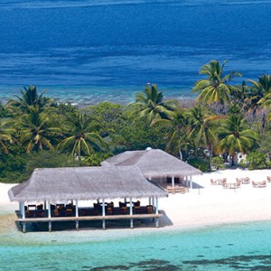 OBLU by Atmosphere at Helengali - Luxury Maldives Honeymoon Packages - Just Grill restaurant exterior