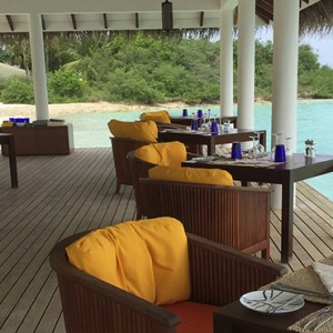 OBLU by Atmosphere at Helengali - Luxury Maldives Honeymoon Packages - Just Grill restaurant interior