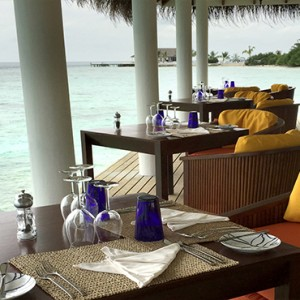 OBLU by Atmosphere at Helengali - Luxury Maldives Honeymoon Packages - Just Grill restaurant interior view