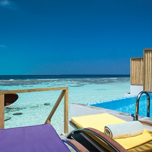 OBLU by Atmosphere at Helengali - Luxury Maldives Honeymoon Packages - Lagoon Villas with plunge pool view