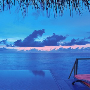 OBLU by Atmosphere at Helengali - Luxury Maldives Honeymoon Packages - Lagoon Villas with plunge pool view at night