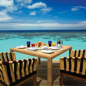 OBLU by Atmosphere at Helengali - Luxury Maldives Honeymoon Packages - The Spice Restaurant deck view