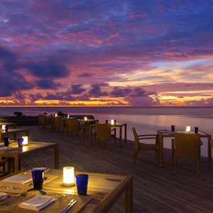 OBLU by Atmosphere at Helengali - Luxury Maldives Honeymoon Packages - The Spice Restaurant exterior at night