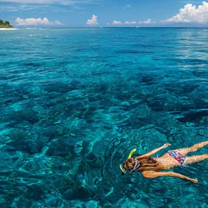OBLU by Atmosphere at Helengali - Luxury Maldives Honeymoon Packages - snorkeling
