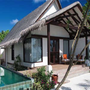 Ozen by Atmosphere at Maadhoo Island - Luxury Maldives Honeymoon Packages - Earth Villa with Pool