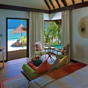 Ozen by Atmosphere at Maadhoo Island - Luxury Maldives Honeymoon Packages - Earth Villa with Pool Interior