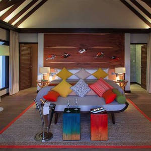 Ozen by Atmosphere at Maadhoo Island - Luxury Maldives Honeymoon Packages - Earth Villa with Pool interior1